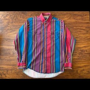 Vintage wrangler button shirt